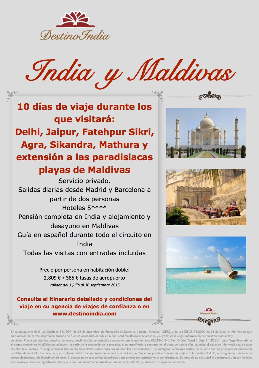 BOOKING FAX INDIA Y MALDIVAS