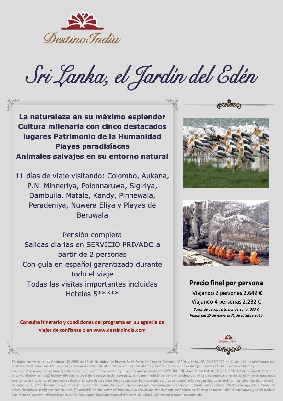 BOOKING FAX Oferta EL JARDIN DEL EDEN