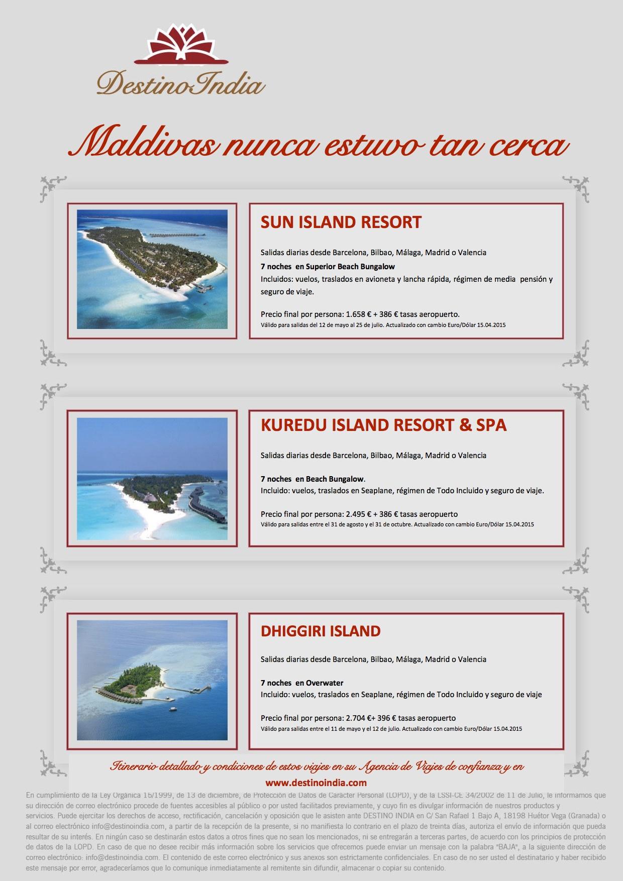 BOOKING FAX Maldivas nunca estuvo tan cerca